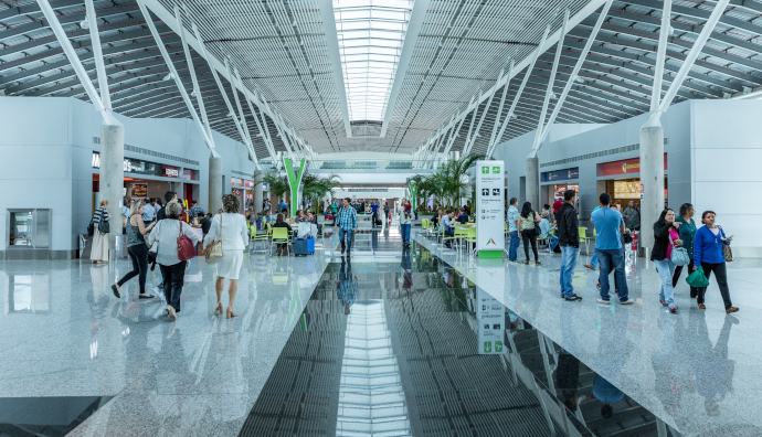 Brasilia Airport consists of a couple of passenger terminals.